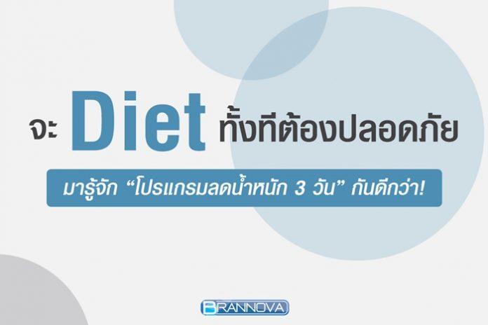 ลดน้ำหนัก 3 วัน