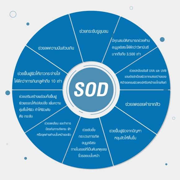 ประโยชน์ของ SOD คือ